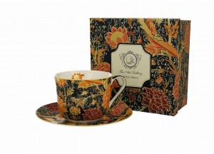 Duo Porcelana, filiżanka jumbo ze spodkiem 450 ml CRAY FLORAL William Morris