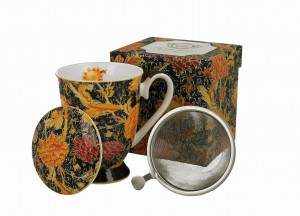 Duo Porcelana, kubek 325 ml z zaparzaczem CRAY FLORAL William Morris