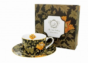Duo Porcelana, filiżanka ze spodkiem 240 ml CHRYSANTHEMUM William Morris