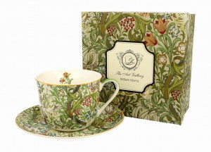 Duo Porcelana, filiżanka jumbo ze spodkiem 450 ml GOLDEN LILY William Morris