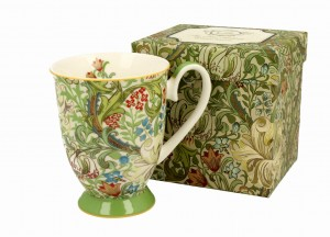 Duo Porcelana, kubek na stopce 275 ml GOLDEN LILY William Morris