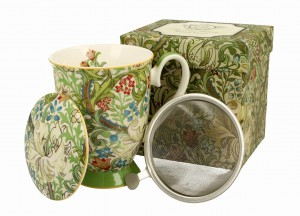 Duo Porcelana, kubek 325 ml z zaparzaczem GOLDEN LILY William Morris