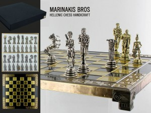Marinakis Bros, szachy - Warrior Chess Set